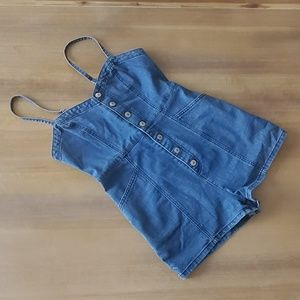 Forever 21 Jean Button Up Romper